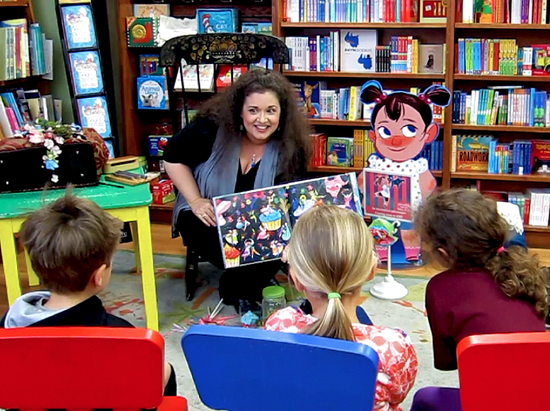 Author Lisa Anne Novelline celebrating Children's Book Week 2015 with a magical reading of Piccadilly and the Fairy Polka at Wellesley Books, Wellesley, MA